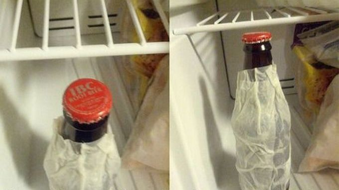 Make a beverage ice cold in minutes