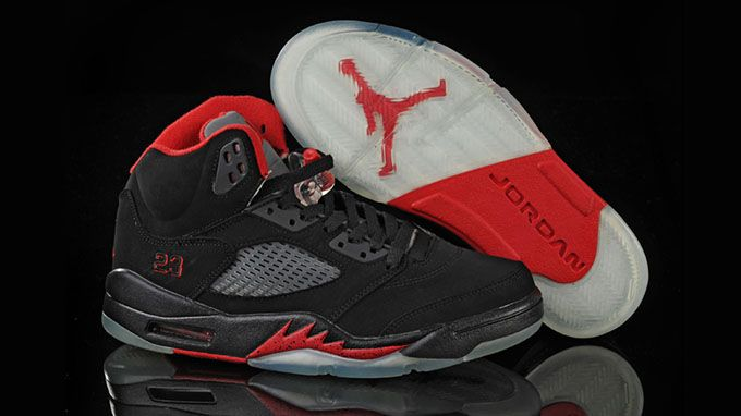 Air Jordan 5 Retro University Black Red White