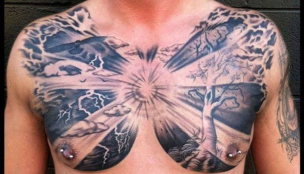 13 Striking Examples Of Chest Tattoos For Men | LifeDaily