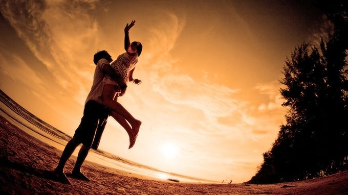 Falling in love is like jumping off...