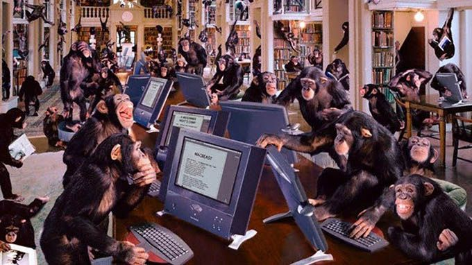 Monkeys typing Shakespeare