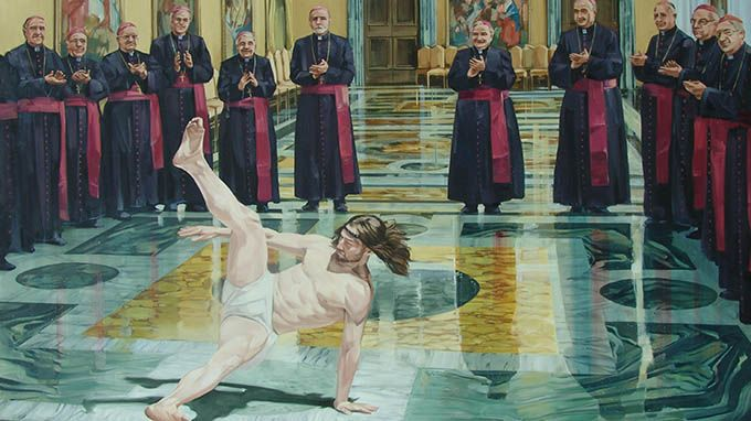 God has a big ego problem jesus breakdancing