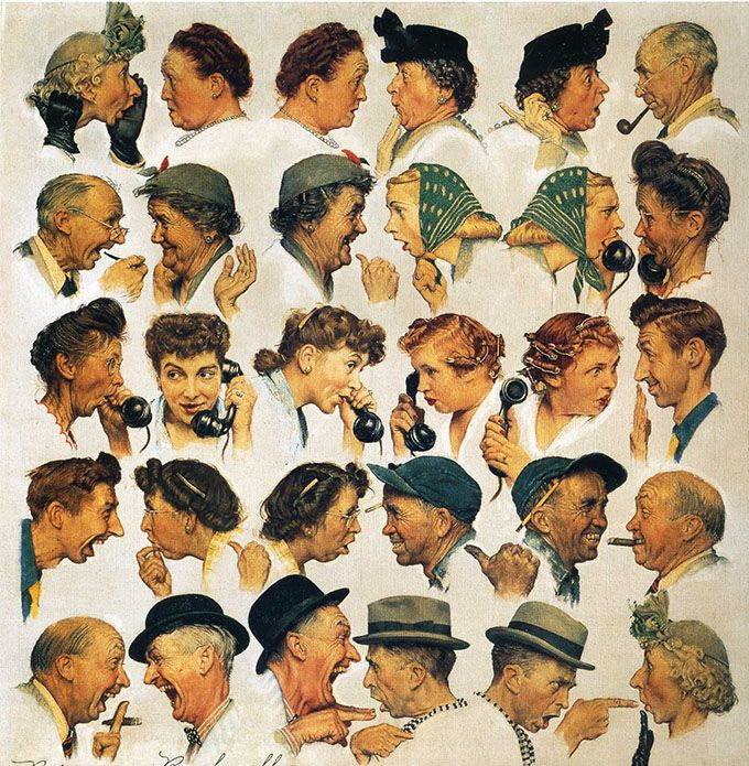 the-gossips-norman-rockwell-the most powerful force in the universe is gossip