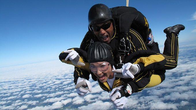 My birthday 40 parachute jump