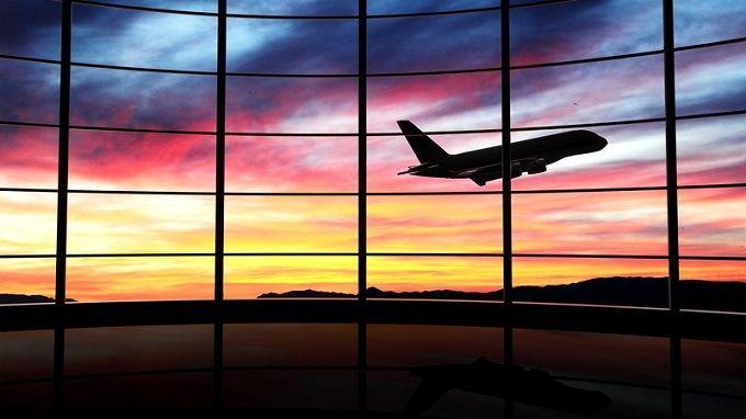 airport-sunset
