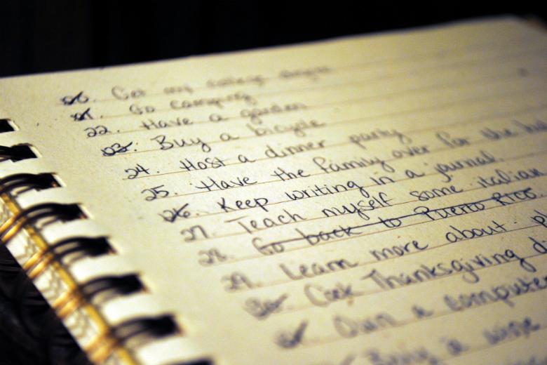 I want to write a bucket list