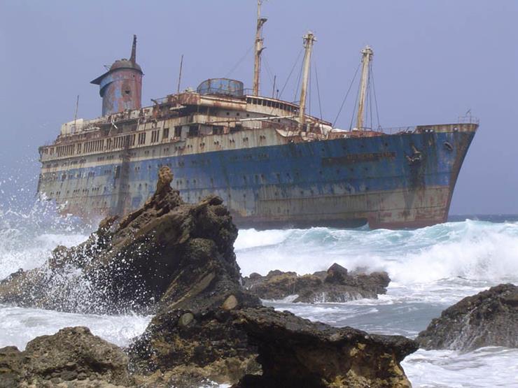 Shipwreck at Fuerteventura Canary Islands