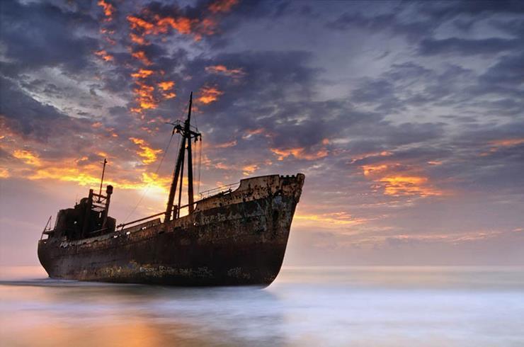 Shipwreck at Gytheio Greece