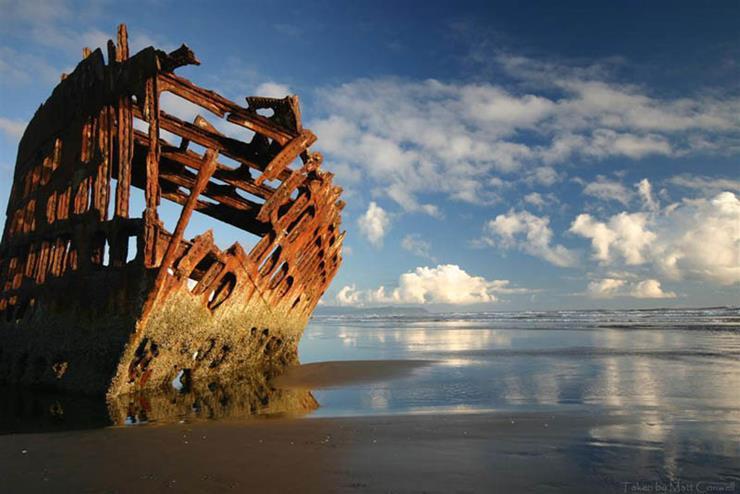 Shipwreck at Oregon United States