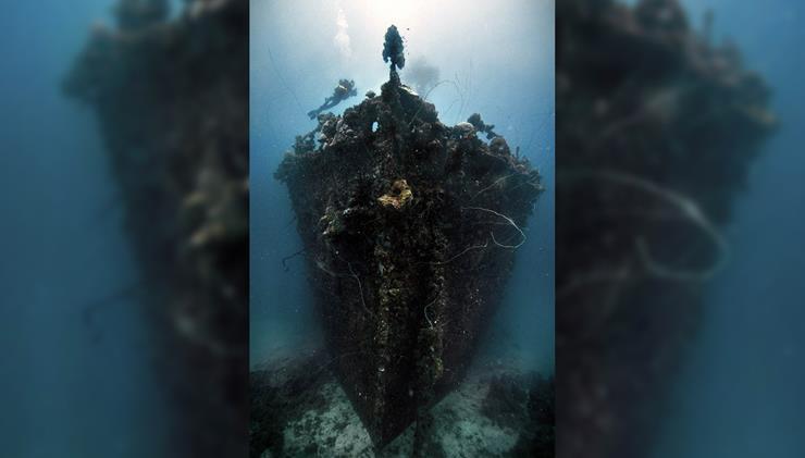 Shipwreck at Truk Lagoon