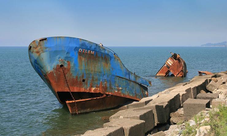 Shipwreck at Batumi Georgia