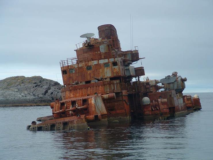 Shipwreck at Tromso Norway