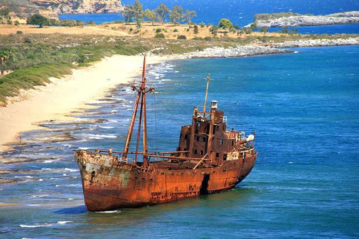 Shipwreck at Lakonia Peloponissos