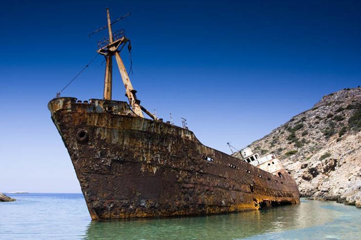 Shipwreck at Amorgos Island