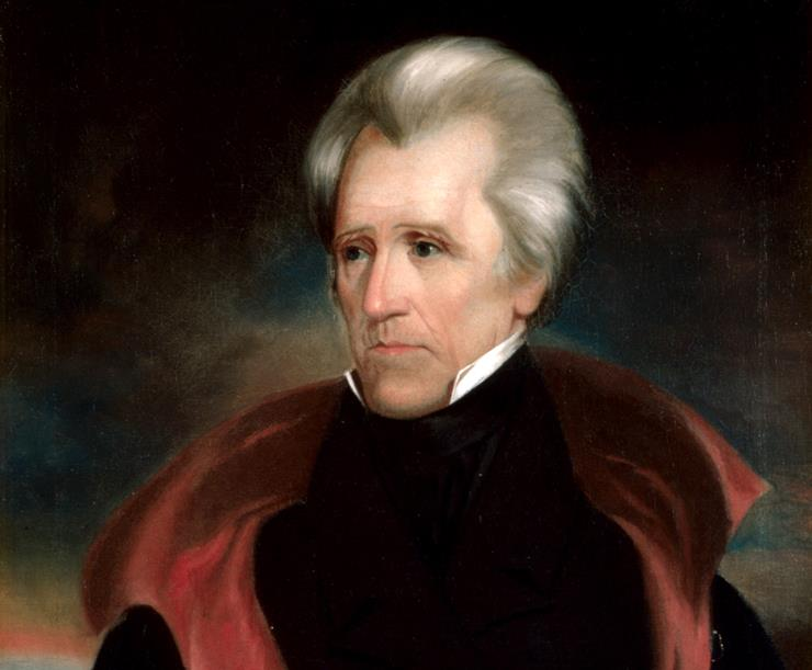 a description of andrew jackson who violated his oath as president