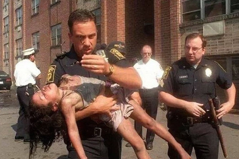 Cop Rescues Young Girl