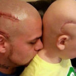 Father Who Got Matching Head Scar Tattoo For Son With Cancer Dubbed 'Best Dad Ever'