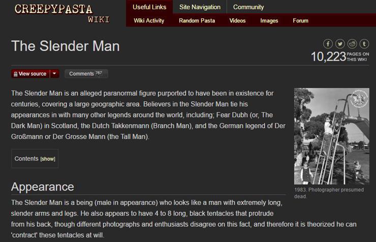Slender Man Story