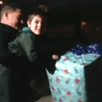 Little Boy Finds Present Containing Soldier Dad On His Doorstep