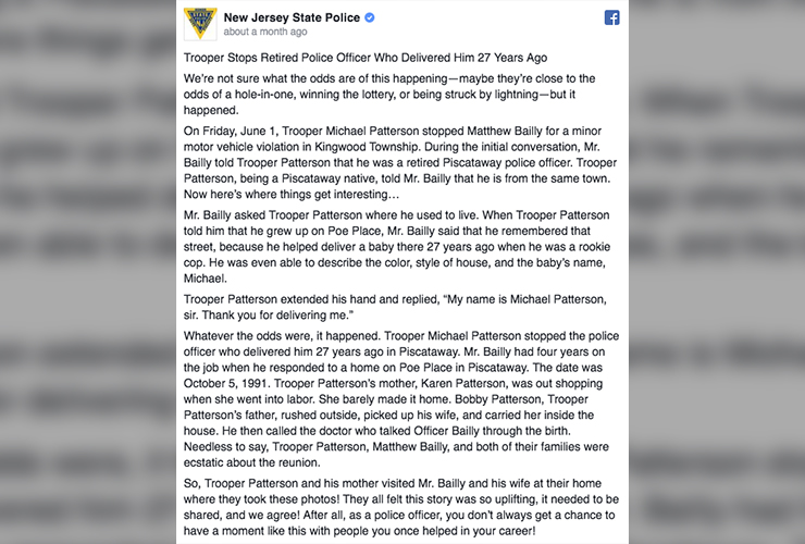 Trooper Michael Patterson Story