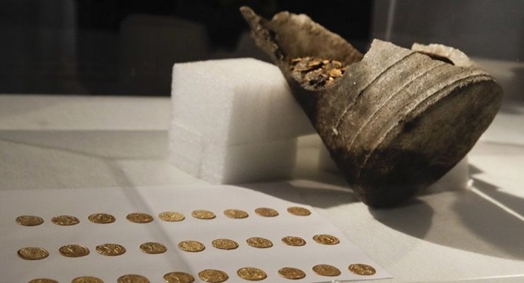 Roman Coins found in Italian Theater Story