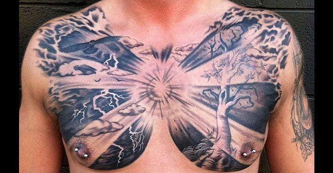 100+ Best Chest Tattoos for Men - Chest Tattoo Gallery for Men