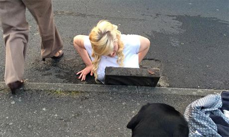 Trapped in a Drain