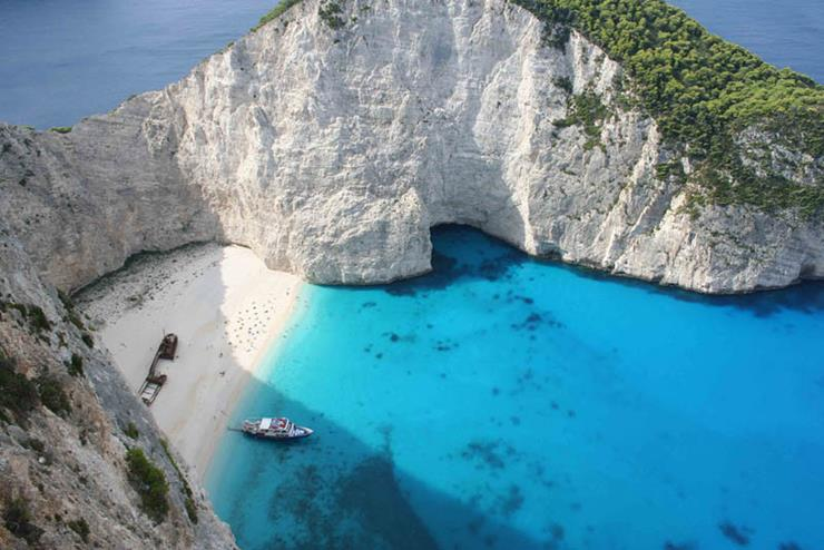 Shipwreck at Zakynthos Greece