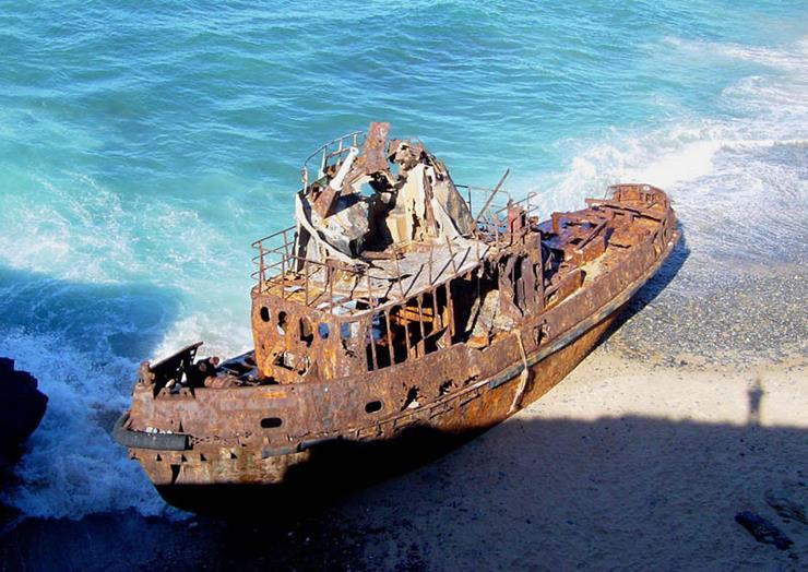 Shipwreck at Vila Nova