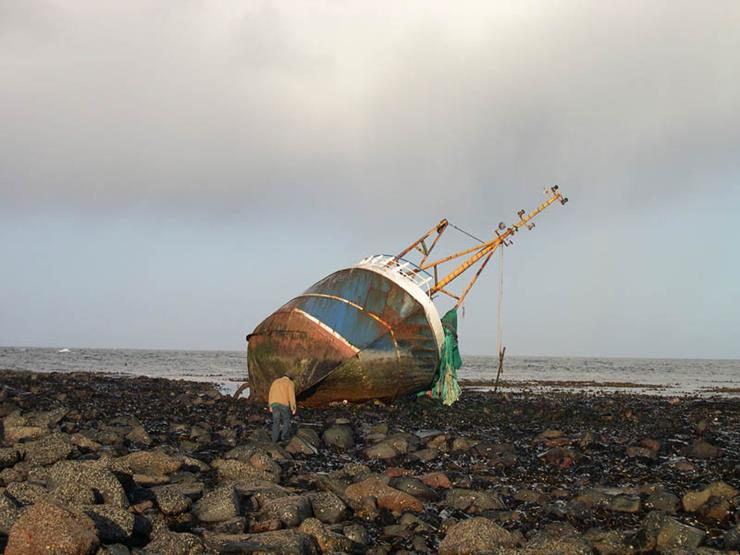 Shipwreck at Cairnbulg Point