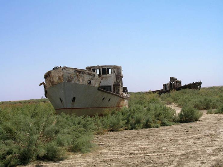 Shipwreck at Moynoq Uzbekistan