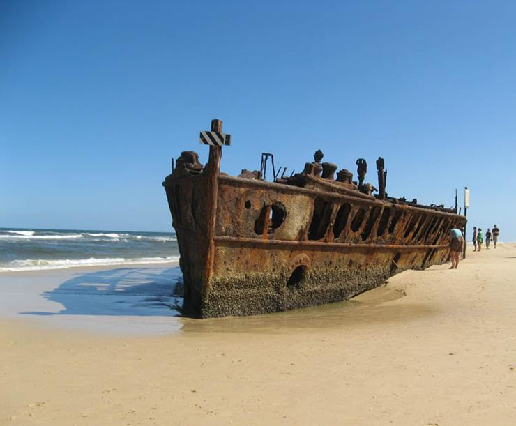Shipwreck at Fraser Island