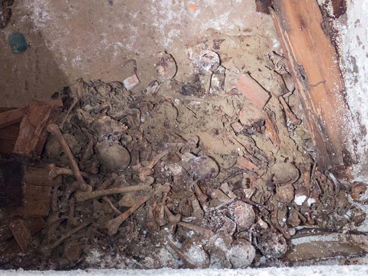 Workers Discover Hidden Vault